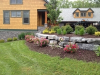 Gardens and Retaining Wall - Landscaping Ithaca