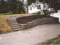 Unilock Retaining Wall & Stairs Ithaca, NY