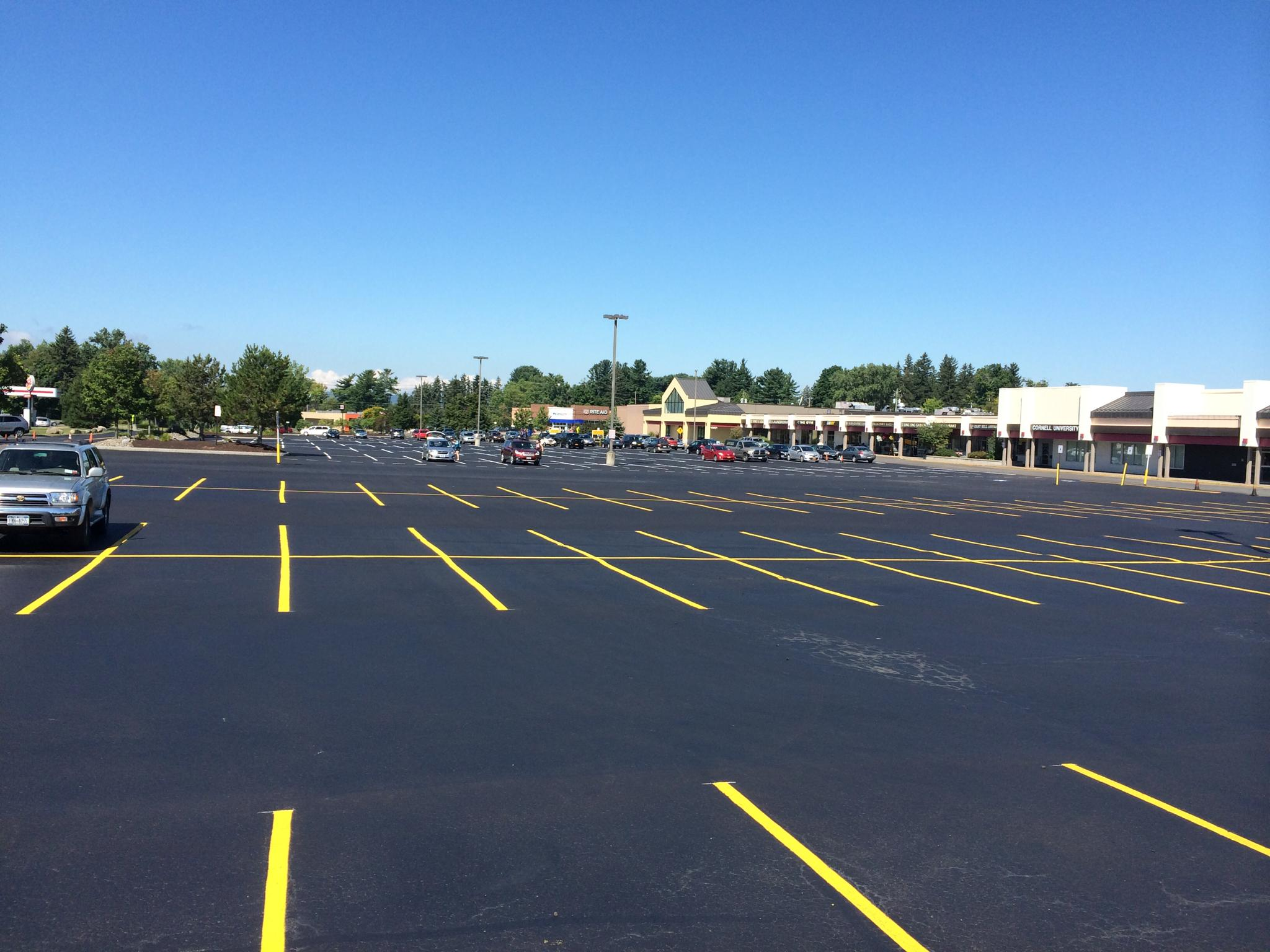 Pro-Seal Striping After Asphalt Work